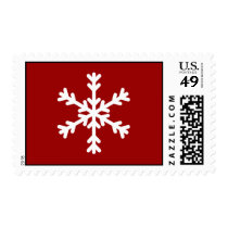 White Snowflake Holiday Postage Stamp