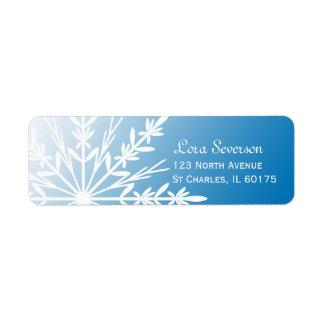 White Snowflake on Blue Label