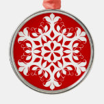 White Snowflake Ornament