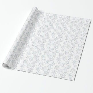 White Snowflake pattern Christmas wrapping paper