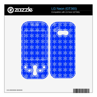 White Snowflake Pattern with Blue Background Skin For LG Neon