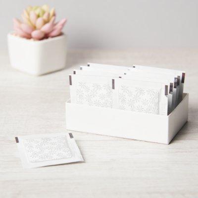 White Snowflake Print Hand Sanitizer Packet