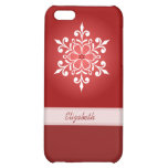 White Snowflake Red iPhone Case 5C/5/5S/4 Cover For iPhone 5C