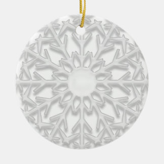 White Snowflake Will You Be My Bridesmaid Ornament
