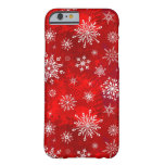 White Snowflakes Barely There iPhone 6 Case