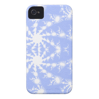 White Snowflakes Frosty Blue Sky Blackberry Bold iPhone 4 Case-Mate Cases
