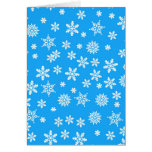 White Snowflakes on Light Blue  Background Cards