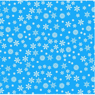 White Snowflakes on Light Blue  Background Statuette