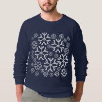 White Snowflakes Pattern Sweatshirt