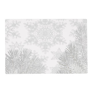 White Snowflakes Placemats