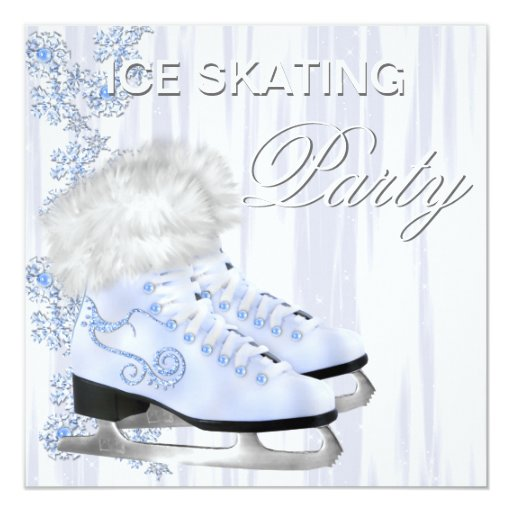 500+ Ice Skating Party Invitations, Ice Skating Party Announcements & Invites | Zazzle