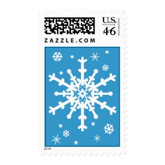 White Snowflakes Stamp