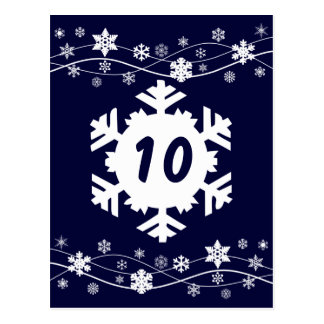 White Snowflakes Table Seating Cards
