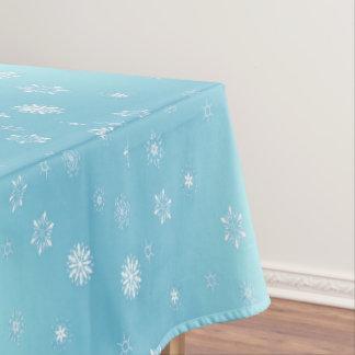 White Snowflakes Tablecloth