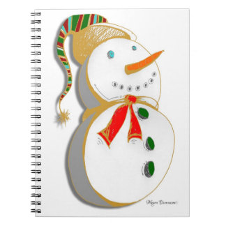 White Snowman Sketch Notebook