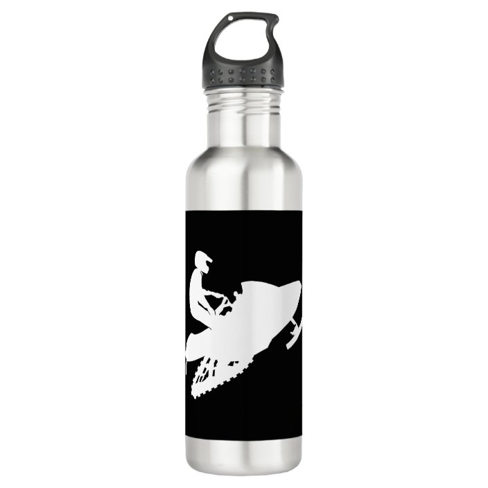 Stainless Steel Water Bottle Snowmobile
