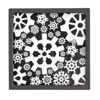White Snowy Gears Gift Box
