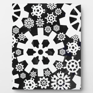 White Snowy Gears Plaque