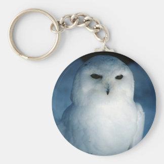 White Snowy Owl Key Chain
