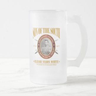 White (SOTS2) 16 Oz Frosted Glass Beer Mug