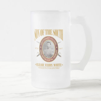 White (SOTS2) Frosted Glass Beer Mug