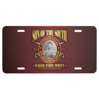 White (SOTS2) License Plate