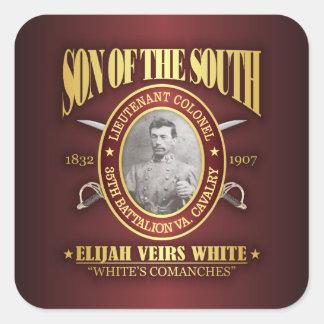 White (SOTS2) Square Sticker