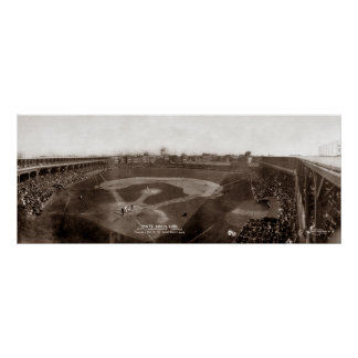White Sox CONTRA Cubs 1909 - vintage Poster