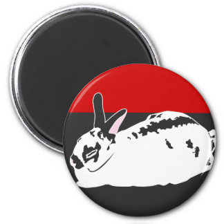 WHITE SPACE 2 INCH ROUND MAGNET