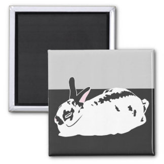 WHITE SPACE 2 INCH SQUARE MAGNET