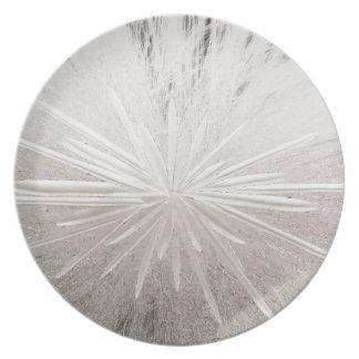 White Spark Dinner Plate
