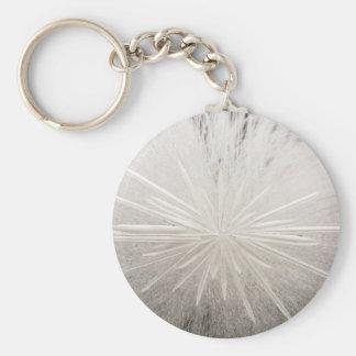 White Spark Basic Round Button Keychain