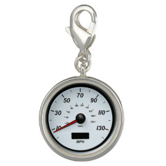 """White Speedometer"" design jewelry set Charm"