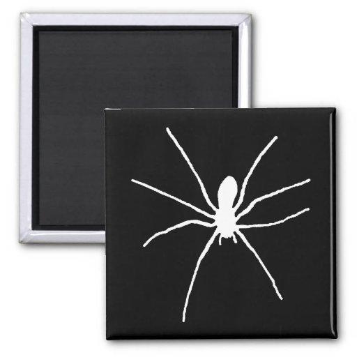 White Spider Fridge Magnet