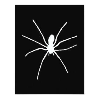 White Spider 4.25x5.5 Paper Invitation Card