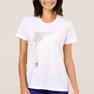 White Spider N Web shadowed T-Shirt