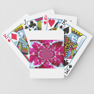 White Spider on a Beautiful Red Rose Bicycle Playing Cards