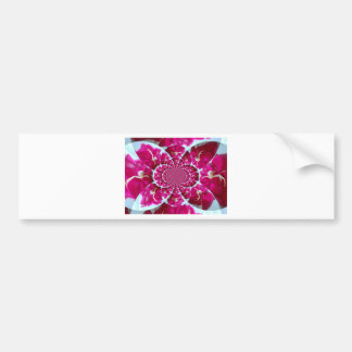 White Spider on a Beautiful Red Rose Bumper Sticker