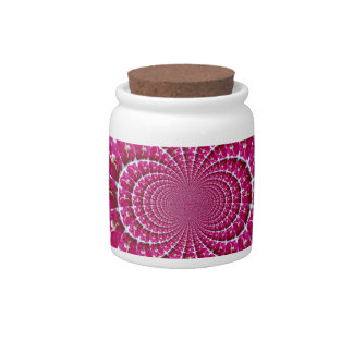 White Spider on a Beautiful Red Rose Candy Jar