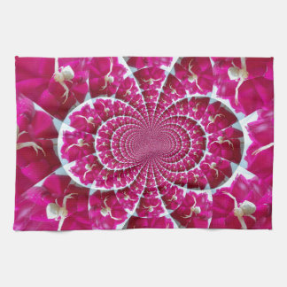 White Spider on a Beautiful Red Rose Kitchen Towel