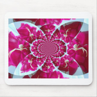 White Spider on a Beautiful Red Rose Mousepad