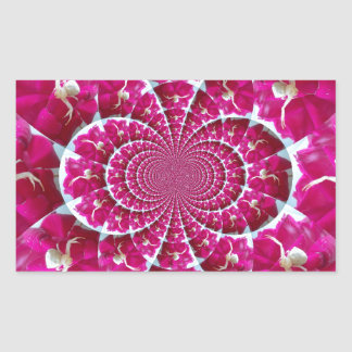 White Spider on a Beautiful Red Rose Rectangular Sticker