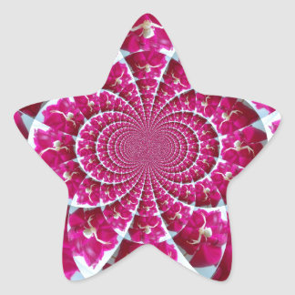 White Spider on a Beautiful Red Rose Star Sticker