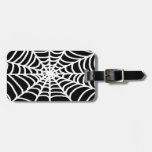 white spider web tags for bags