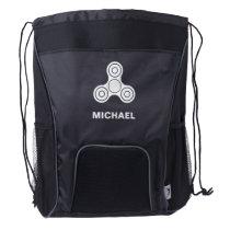 White Spinner Design Backpack