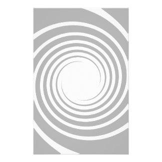 White spiral on light gray. flyer