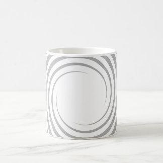 White spiral on light gray. mugs