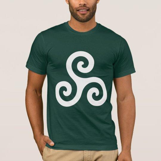 White Spiral Triskele T-Shirt