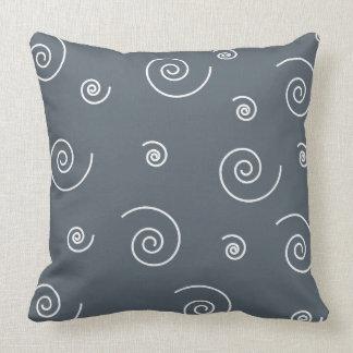 White Spirals Pattern Pillow