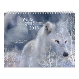White Spirit Animals Art Calendar 2013
